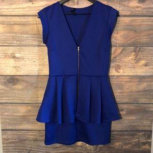 Short Sleeve Blue Dress by Snap